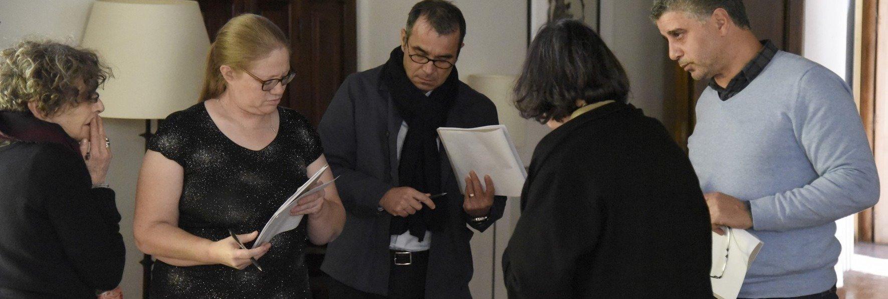 """Réunion du jury pour le prix """"Résidence pour la Photographie"""" © Olivier Monoyez"""